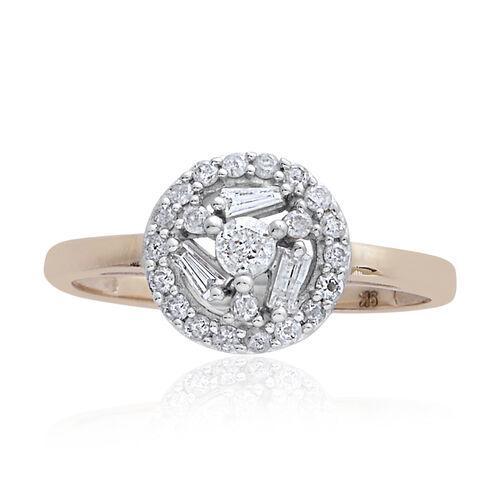 9K Y Gold SGL Certified Diamond (Rnd) (I3/ G-H) Ring 0.500 Ct.