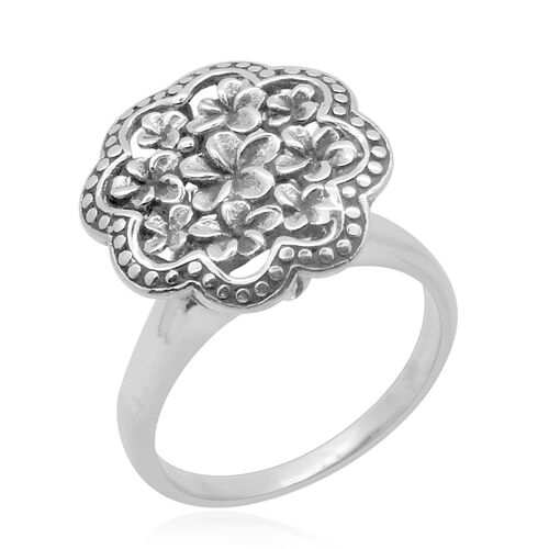 Royal Bali Collection Sterling Silver Floral Ring, Silver wt 5.44 Gms.