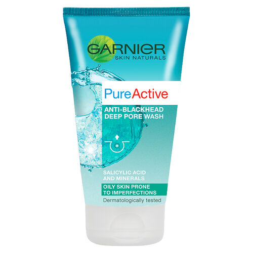 Garnier Pure Active Anti-blackhead Deep Pore Wash - 150ml