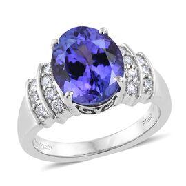 RHAPSODY 950 Platinum 4.75 Ct AAAA Tanzanite, Diamond (VS/E-F) Ring