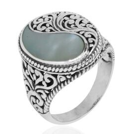 Royal Bali Collection Mother of Pearl Ring in Sterling Silver