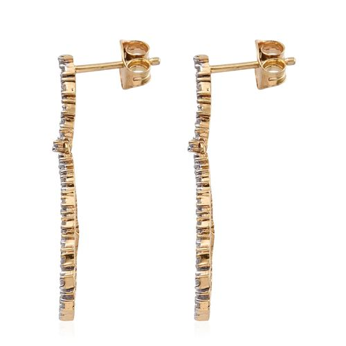 Diamond (Rnd) Earrings (with Push Back) in 14K Gold Overlay Sterling Silver 0.330 Ct.