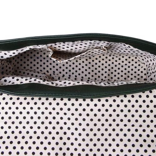 Dark Green Colour Envelope Design Crossbody Bag with Adjustable Shoulder Strap (Size 27X17.5X8 Cm)