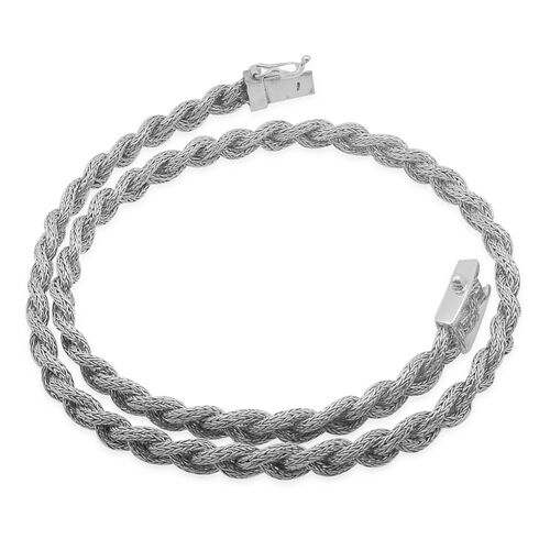 Royal Bali Collection Sterling Silver Braided Necklace (Size 20), Silver wt 59.85 Gms.