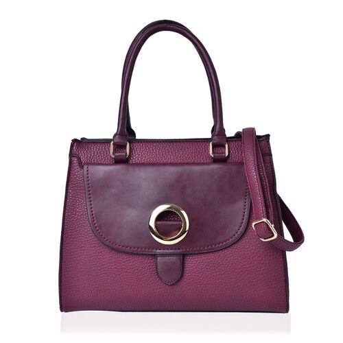Timeless Collection Burgundy Colour Tote Bag with External Zipper Pocket and Adjustable and Removable Shoulder Strap (Size 34.5X28X16 Cm)