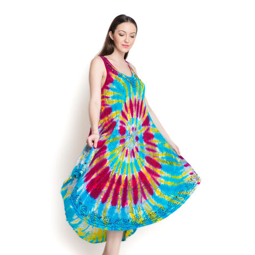 Floral Pattern Multi Colour Beach Cover Up (Size 110 Cm)