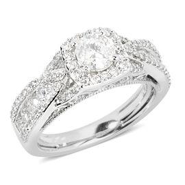 14K White Gold Diamond (Rnd)  (I1-I2/G-H) Ring 1.500 Ct, Gold wt 5.80 gms.