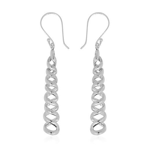 Royal Bali Collection Sterling Silver Spirel Hook Earrings, Silver wt. 5.60 Gms.