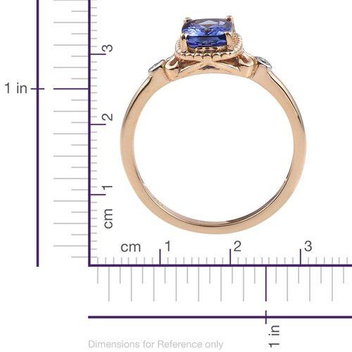 14K Y Gold Tanzanite (Cush), Diamond Ring 1.520 Ct.