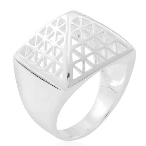 Limited Edition Vicenza Luxe Collection- Designer Inspired Sterling Silver Pyramid Ring, Silver wt 9.40 Gms.