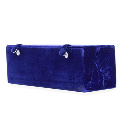 Handmade Velvet Ring Folder Boxe - Blue