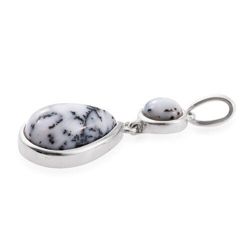 Norseman Dendritic Opal (Pear) Drop Pendant in Sterling Silver 3.500 Ct.