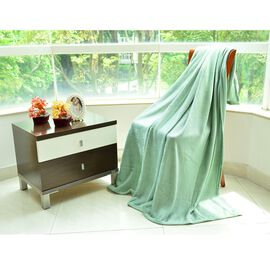 Super Bargain Price- Superfine Green Colour Microfiber Blanket 150x200 cm
