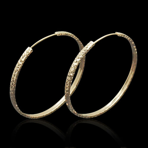 Royal Bali Collection 9K R Gold Hoop Earrings