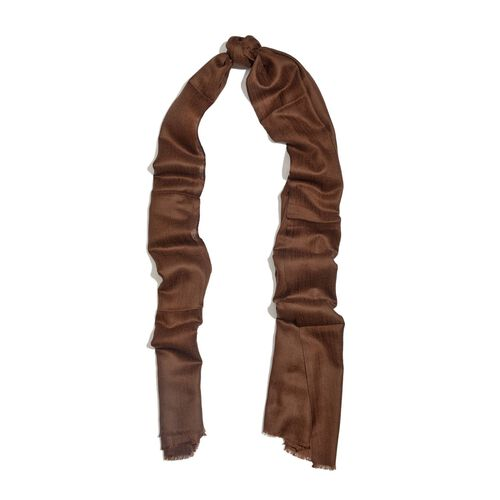 Limited Available - 100% Cashmere Wool Brown Colour Shawl (Size 200x70 Cm)
