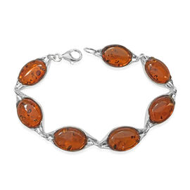Baltic Amber (Ovl) Bracelet with Lobster Lock (Size 7) 14.00 Ct.