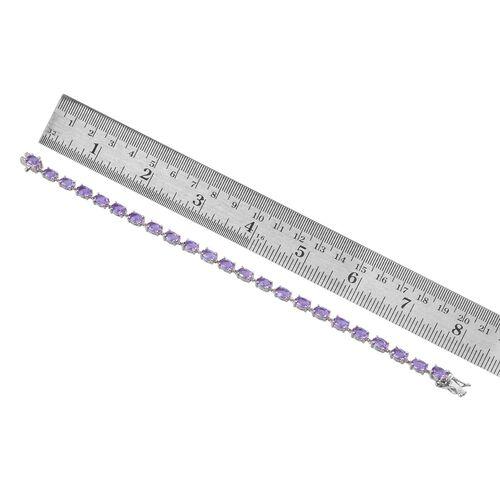 Lavender Alexite (Ovl) Bracelet (Size 7.5) in Platinum Overlay Sterling Silver 8.750 Ct.