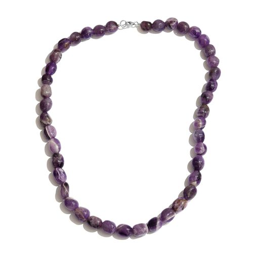Amethyst Necklace (Size 20) in Sterling Silver 300.000 Ct.