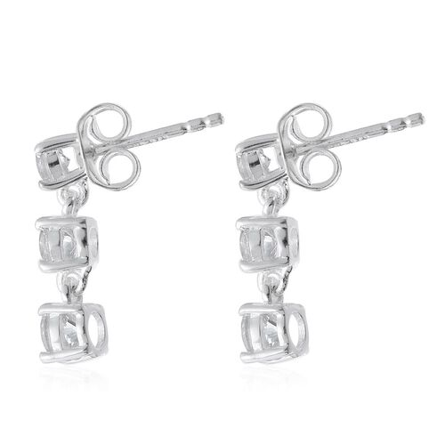 J Francis - Sterling Silver (Rnd) Earrings (with Push Back) Made with SWAROVSKI ZIRCONIA