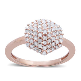 Limited Edition 9K Rose Gold 0.50 Carat Natural Pink Diamond (Rnd) Cluster Ring
