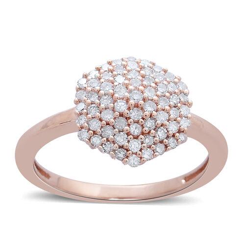 Limited Edition 9K Rose Gold 0.50 Carat Natural Pink Diamond (Rnd) Cluster Ring