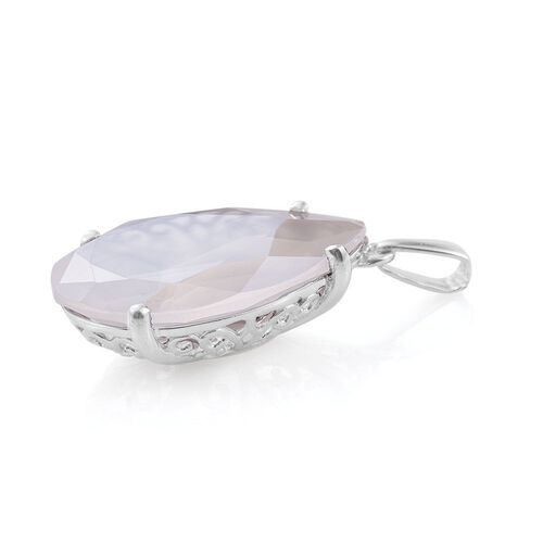 J Francis Crystal from Swarovski - Ethereal Ice Crystal (Pear) Pendant in Platinum Overlay Sterling Silver