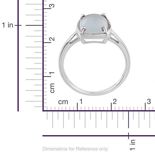 Espirito Santo Aquamarine (Cush) Solitaire Ring in Platinum Overlay Sterling Silver 2.500 Ct.