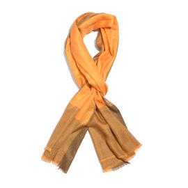 Limited Available - 100% Cashmere Burnt Orange Colour Scarf (Size 200x70 Cm)
