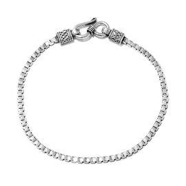 Mega Deal-Sterling Silver Flat Box Bracelet (Size 7.5), Silver wt 5.45 Gms.
