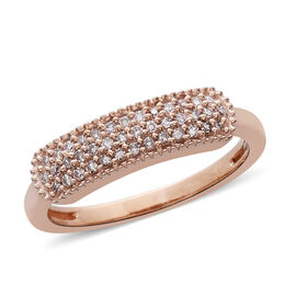 9K Rose Gold Natural Pink Diamond (Rnd) (I3/G-H) Cluster Ring 0.200 Ct.
