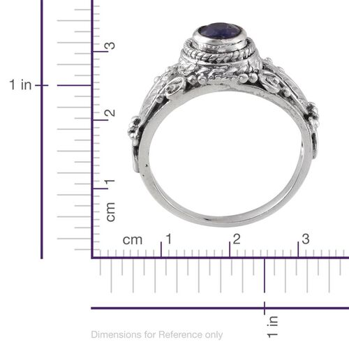 Jewles of India Tanzanite (Ovl) Ring in Sterling Silver 0.880 Ct.