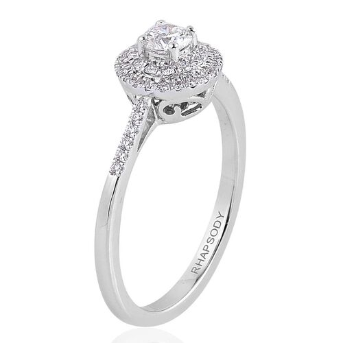 Rhapsody platinum carat igi certified diamond vs