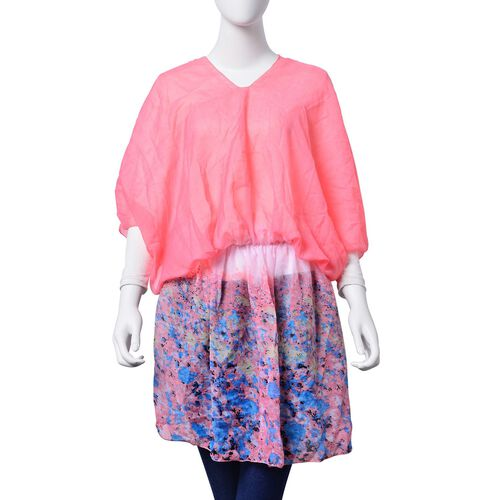 Multi Colour Printed Pink Colour Tunic (Free Size)