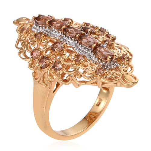 Jenipapo Andalusite (Ovl) Ring in 14K Gold Overlay Sterling Silver 2.250 Ct.