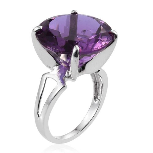 Lavender Alexite (Rnd) Ring in Platinum Overlay Sterling Silver 18.000 Ct.