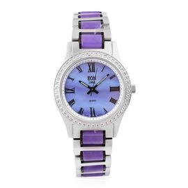 EON 1962 - Swiss Movement Purple Jade, White Topaz and MOP Watch