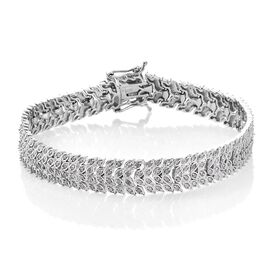 Limited Available - Diamond (Rnd) Bracelet (Size 7.5) in Platinum Overlay Sterling Silver 2.000 Ct. Silver wt 19.64 Gms. Number of Diamonds 316