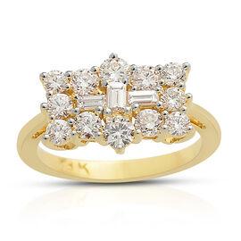ILIANA 18K Yellow Gold Diamond (Rnd) Ring 1.000 Ct.
