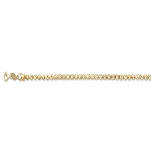 JCK Vegas Collection 14K Gold Overlay Sterling Silver Barrel Moon Bracelet (Size 7.5), Silver wt 4.90 Gms.