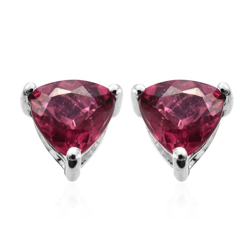 RHAPSODY 950 Platinum AAAA Ouro Fino Rubelite (Trl) Stud Earrings (with Screw Back) 1.150 Ct.