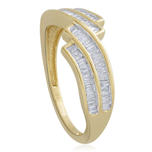 9K Y Gold SGL Certified Diamond (Bgt) (I 3 /G-H) Ring 0.500 Ct.