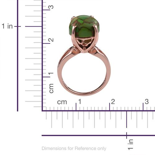 Mojave Green Turquoise (Pear) Ring in ION Plated 18K Rose Gold Bond 10.000 Ct.