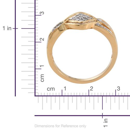 Diamond (Rnd) Ring in 14K Gold Overlay Sterling Silver 0.500 Ct.