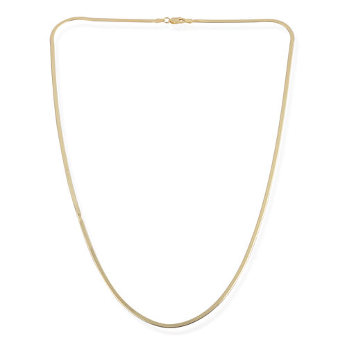 JCK Vegas Collection 14K Gold Overlay Sterling Silver Fancy Snake Chain (Size 24), Silver wt 4.61 Gms.