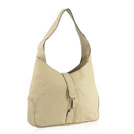 100% Genuine Leather RFID Cream Colour Bag (Size 38X24X8 Cm)