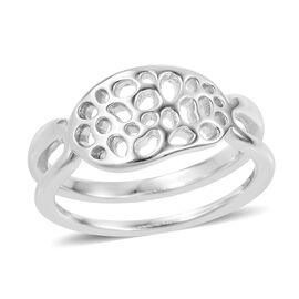 RACHEL GALLEY Rhodium Plated Sterling Silver Lattice Ring, Silver wt 4.11 Gms.