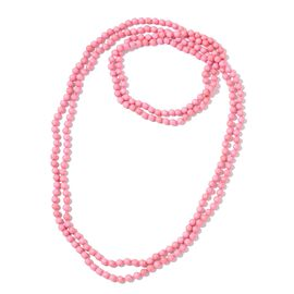 Super Auction - Pink Howlite Beads Necklace (Size 100) 877.000 Ct.