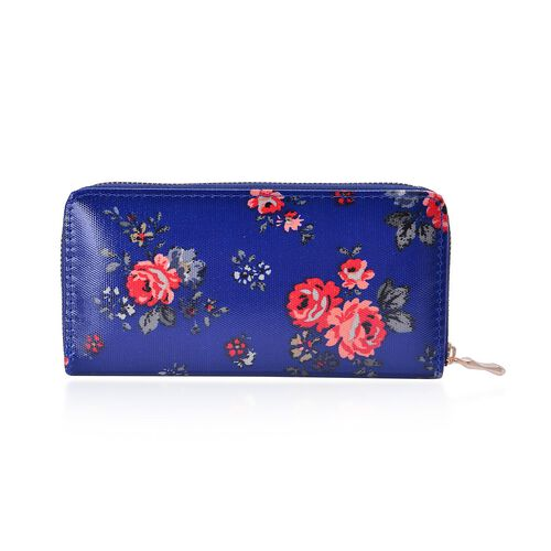 Set of 2 - Multi Colour Floral Pattern and Black Colour Zebra Pattern Blue Colour Wallet (Size 20x10x2.5 Cm)