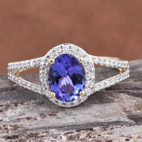 New York Close Out Deal- 14K Y Gold Tanzanite (Ovl 2.00 Ct), Diamond (I2-I3/G-H) Ring 2.500 Ct.