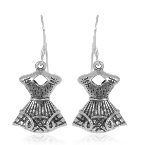 Designer Inspired Silver Hook Earrings, Silver wt 8.71 Gms.